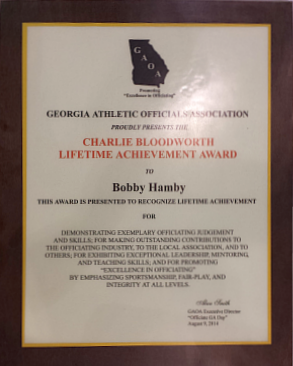 2014 Charlie Bloodworth Award